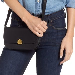MADEWELL 🔴abroad black leather crossbody nwot